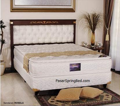 UNILAND Double Pillow Top - Headboard Rosella Spring Bed - toko springbed jual springbed harga springbed murah dijual springbed