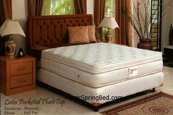 UNILAND LATEX POCKET Plush Top Spring Bed - Headboard Monaco - toko springbed jual springbed harga springbed murah dijual springbed