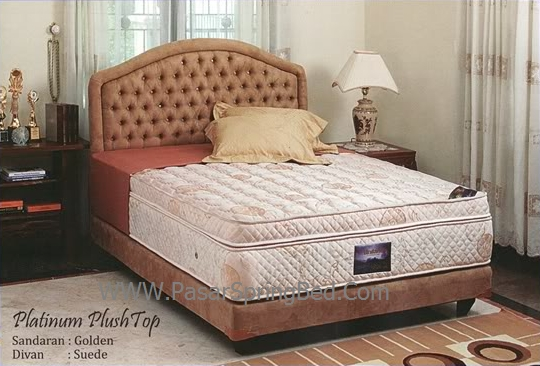 UNILAND Platinum Plush Top  2 Spring Bed - toko springbed jual springbed harga springbed murah dijual springbed