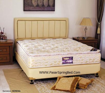 UNILAND Symphony Single Pillow Top - Headboard Serena Spring Bed - toko springbed jual springbed harga springbed murah dijual springbed