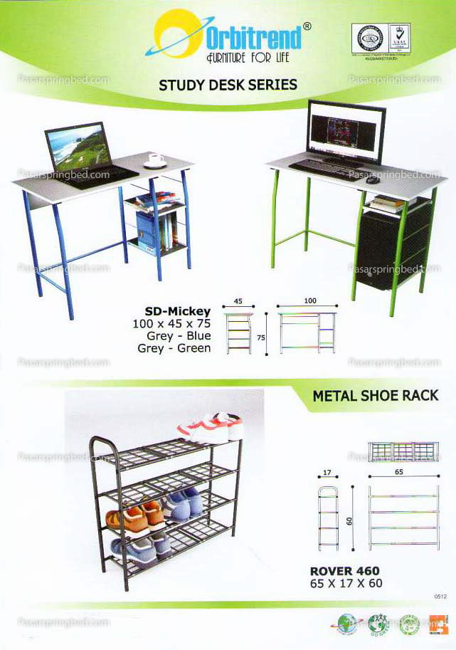 Orbitrend Computer Table & Shoes Rack